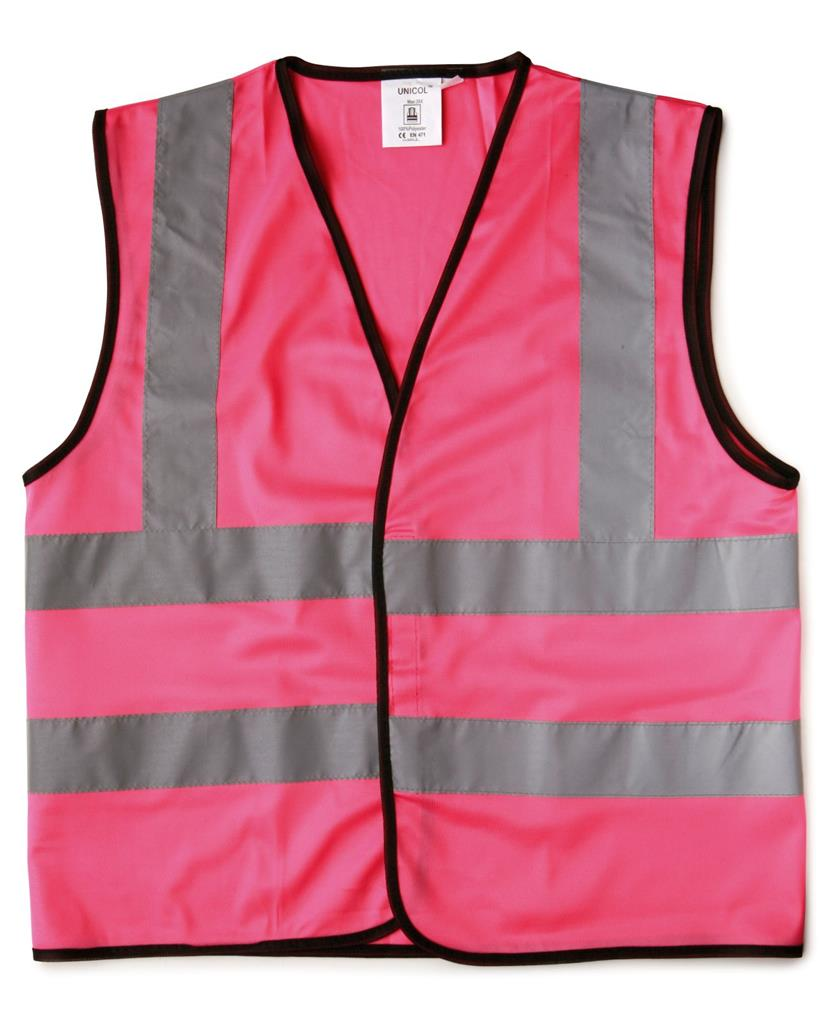 SAFETY WAISTCOAT - CHILD (XS) - 6/10YR - PINK