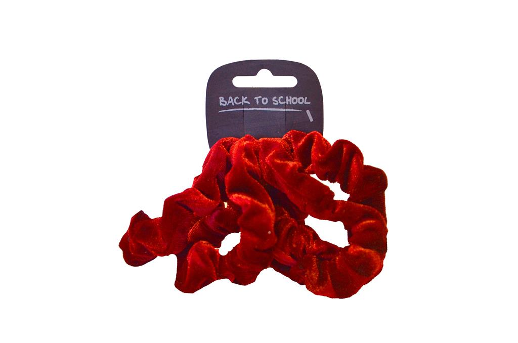 4 PACK VELVET SCRUNCHIE