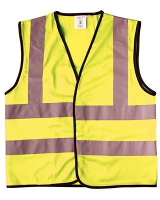 SAFETY WAISTCOAT - CHILD (L) - 12/14YR - YELLOW