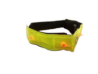 LED ELASTICATED ARMBAND YELLOW