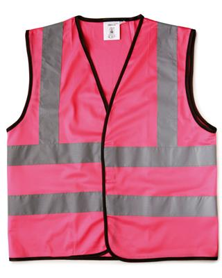 SAFETY WAISTCOAT - CHILD (L) - 12/14 - PINK