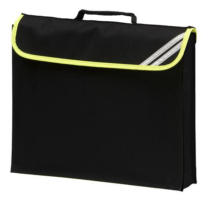 HI-VIZ EXPANDABLE BOOKBAG - BLACK