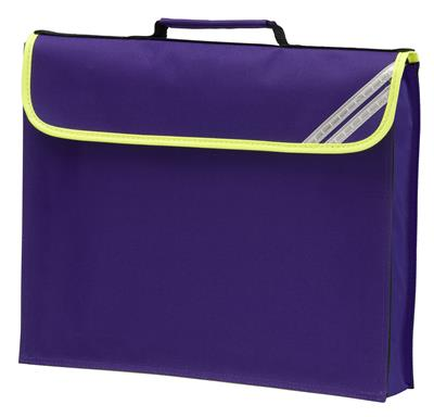 HI-VIZ EXPANDABLE BOOKBAG - PURPLE