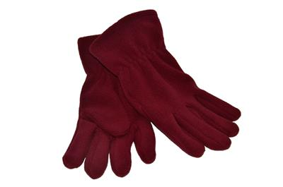 FLEECE GLOVES - MAROON