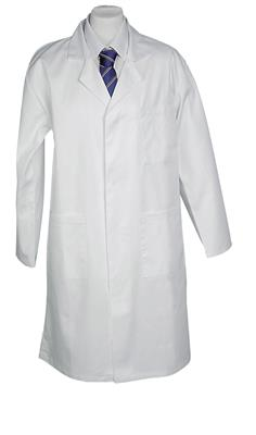100% COTTON LAB COAT - WHITE