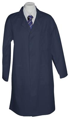 100% COTTON LAB COAT - NAVY